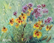 Prairie Coneflower - oil on canvas by Astrid Nielsch