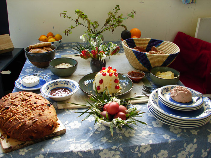 Asni's Russian Easter table