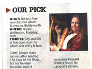 Asni's show is pick of the week in Wellington's Dominion Post