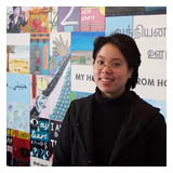 Sydney: Michelle Tran in front of her mural at Auburn public library