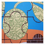 Sydney: Detail from Michelle Tran's mural at Auburn school