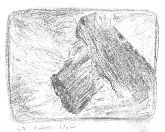 sketch: fire logs