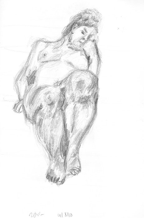 sketch: live drawing session, nude 1