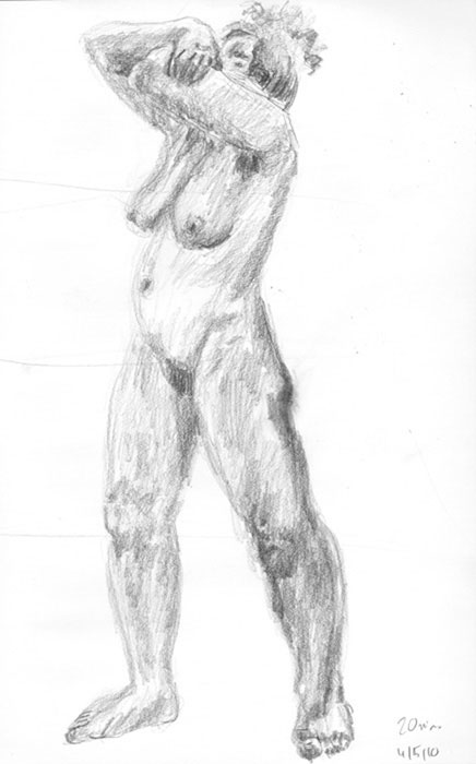 sketch: live drawing session, nude 2