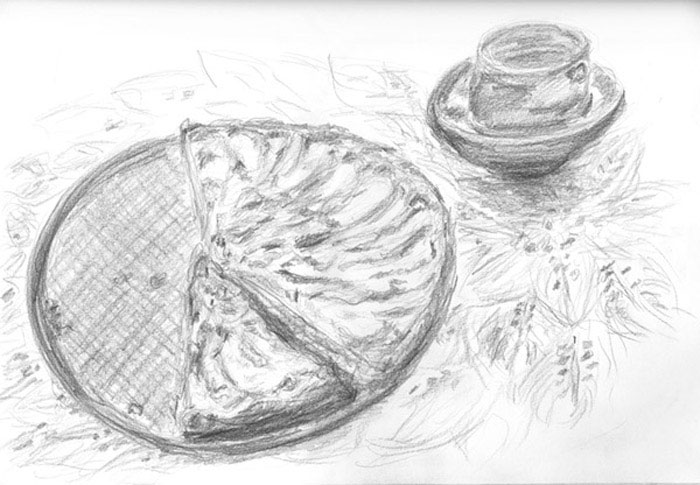sketch: apple pie