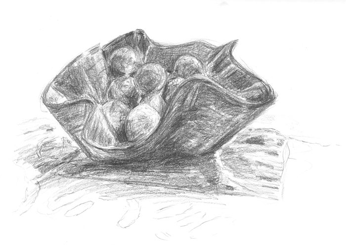 sketch: bowl of limes