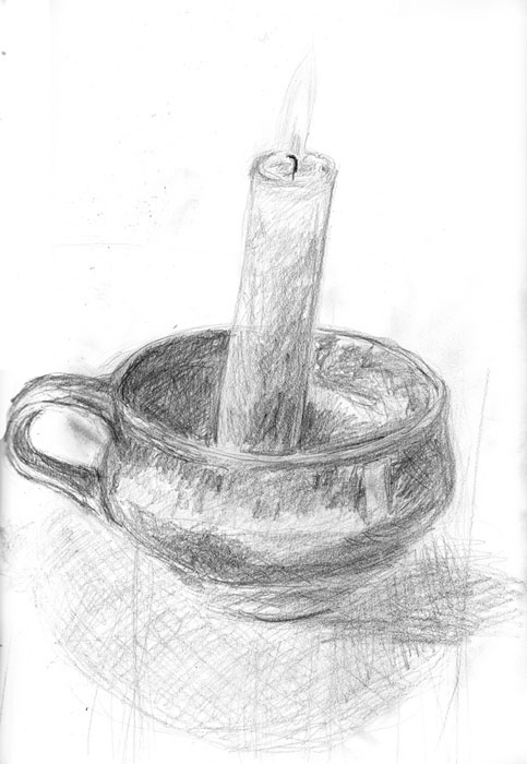 sketch: 28/5: candle