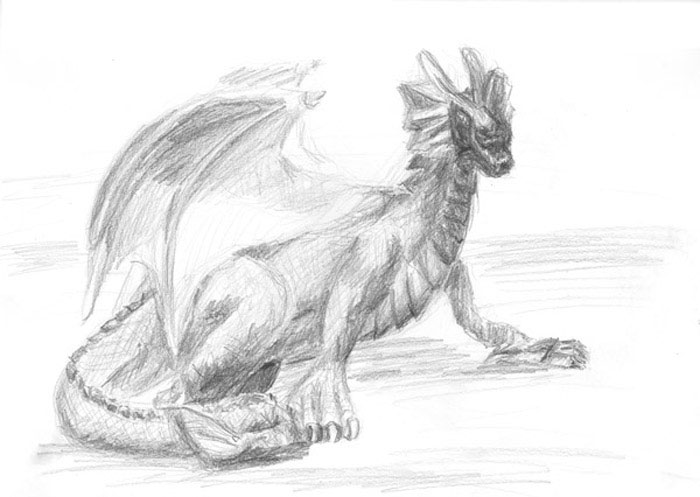 sketch: baby dragon