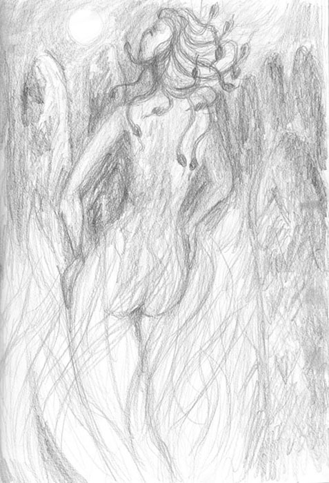 sketch: fire dance