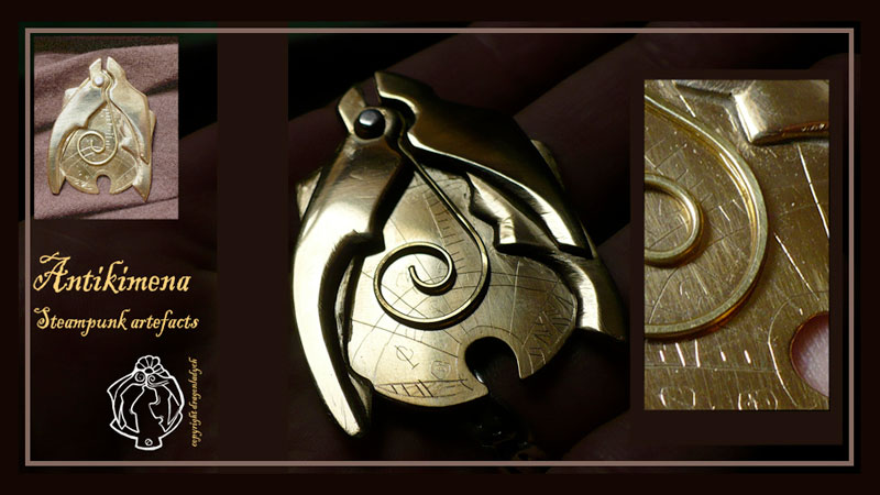 Antikimena Steampunk jewellery by DragonladyCH