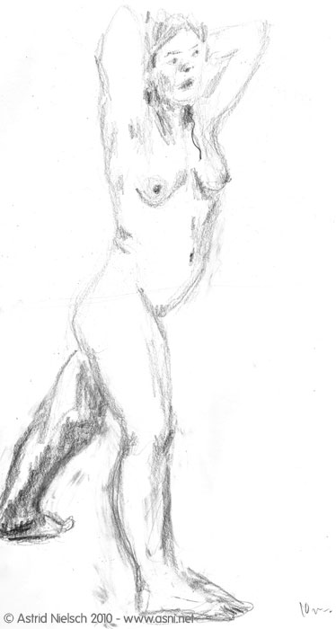 female nude, 10 minute pose