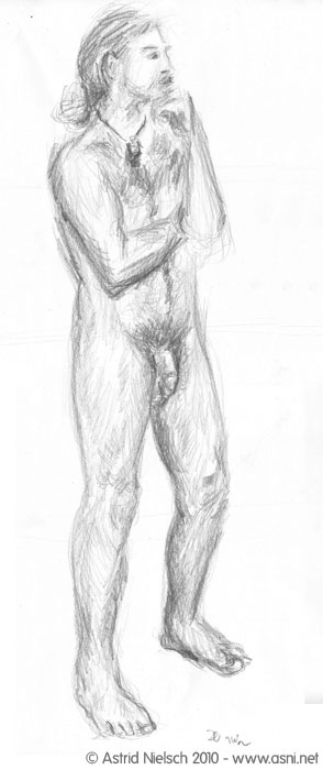 male nude, 20 minute pose