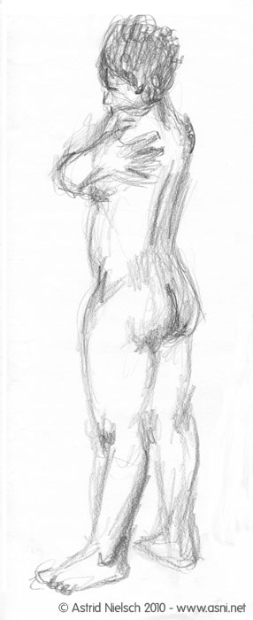 female nude, 5 minute pose
