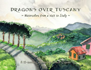 Dragons over Tuscany calendar by Grace Ogawa
