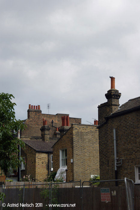 Summer living: chimneys, London