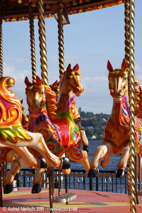 Summer living: merry-go-round, Cardiff