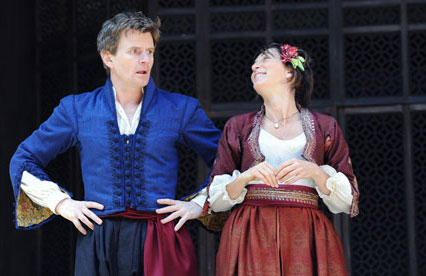 Much Ado about Nothing at the Globe theatre, London