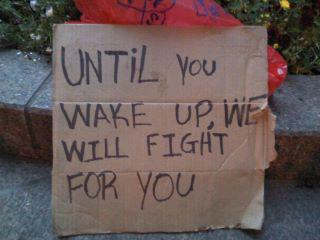 Until you wake up, we will fight for you