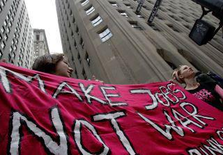 Make jobs not war - source: Occupy San Francisco on Facebook