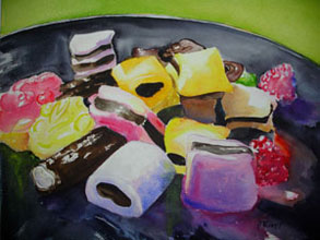 Licorice and Jelly Frogs by Pat Knorpp