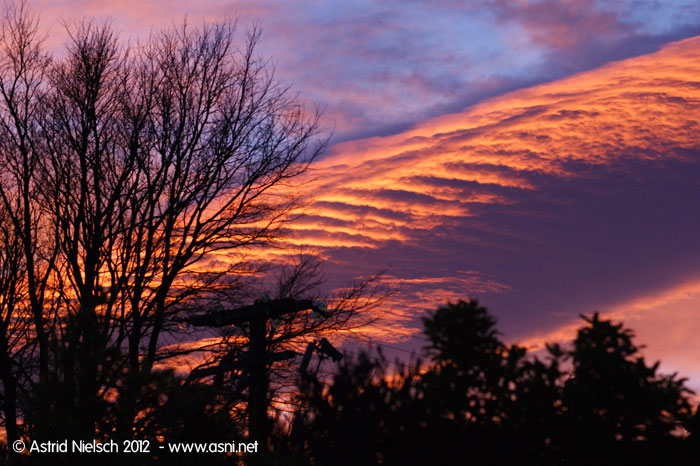 Sunrise, UFO, battle in the sky?  Featherston, Wairarapa