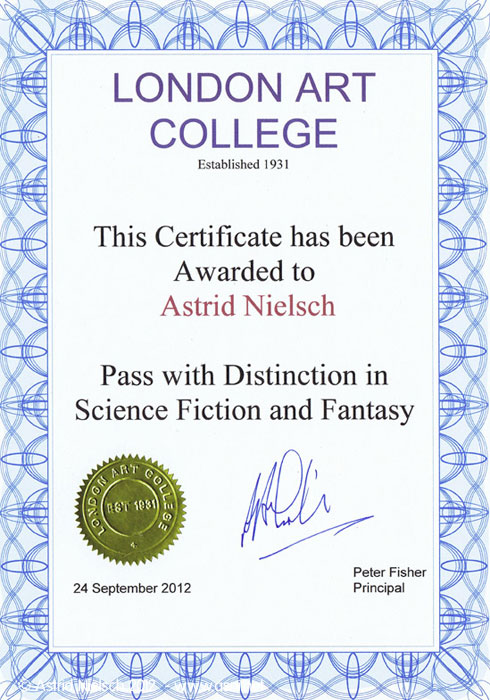 London Art College certificate