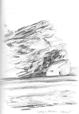 Castlepoint sketch by Astrid Nielsch