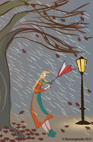 Illustration Friday: Storm by Astrid Nielsch