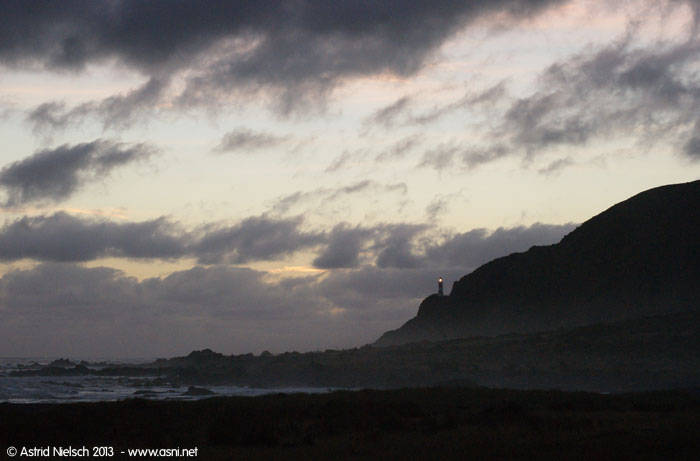 Moon over Cape Palliser