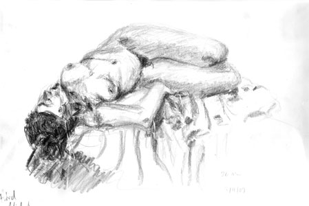 Relaxed, lying female pose by Astrid Nielsch