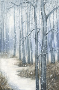 Snowy Wood by Laura G. Young
