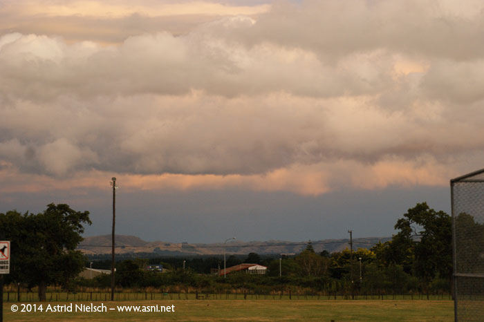 Stormy skies in Featherston, Wairarapa