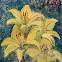 Yellow Lilies by Astrid Nielsch