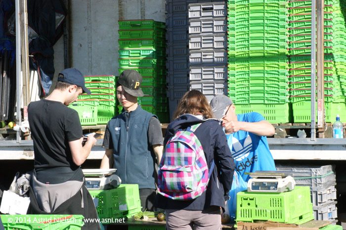 Wellington on a good day: Chaffer's market, packing up time