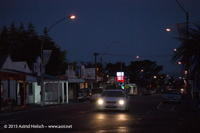 Summer nights in downtown Featherston