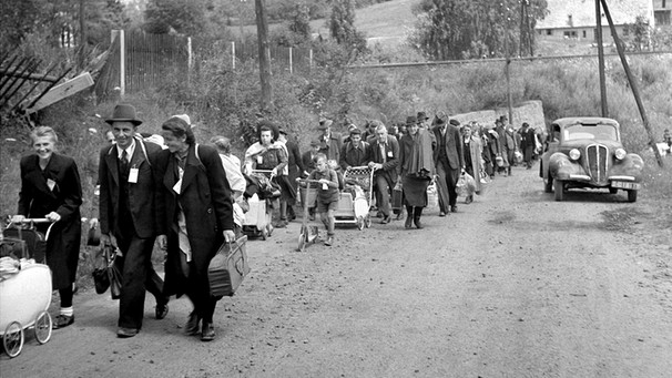 Refugees from Eastern Europe, 1945. People fleeing armed conflict in the Democratic Republic Congo, 2012