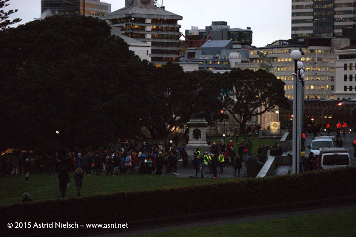 Disappointing turnout at a demonstration in Wellington to demand an increase of New Zealand's refugee quota, 2015