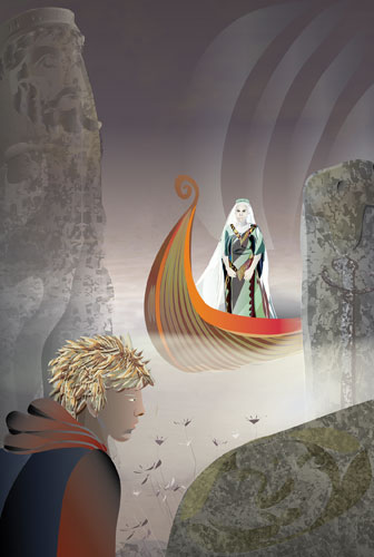 Young Adult fantasy ebook cover commission, by Astrid Nielsch