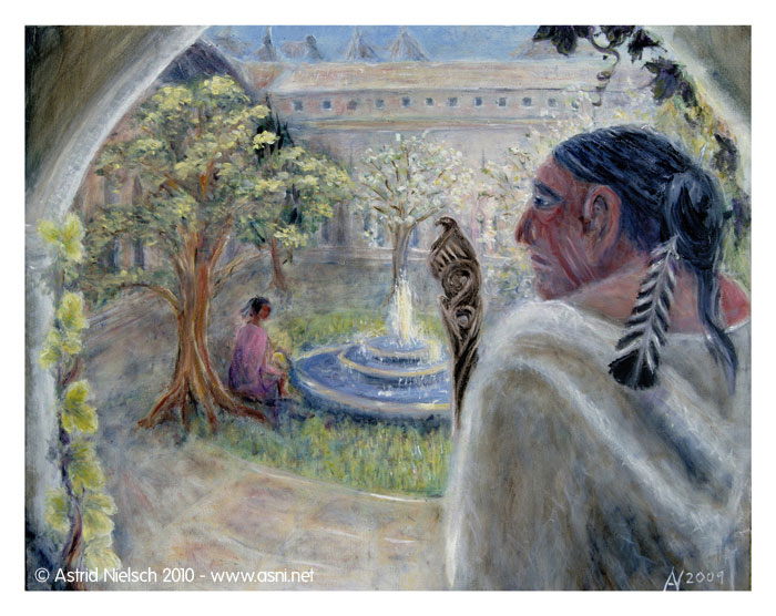 Fantastic Journeys: The Courtyard - giclee print