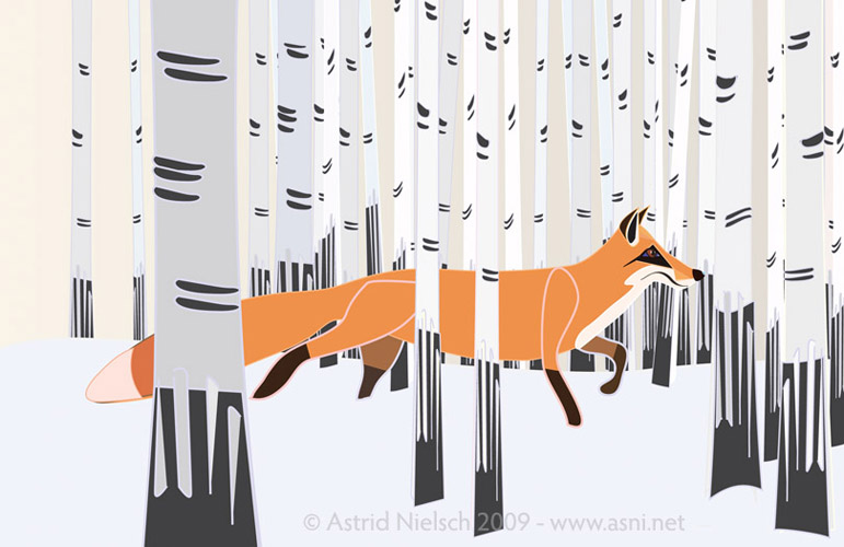 Vector Fox by Astrid Nielsch