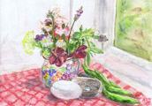 Still Life with Summer Flowers by Astrid Nielsch