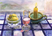 Still Life with Candle by Astrid Nielsch
